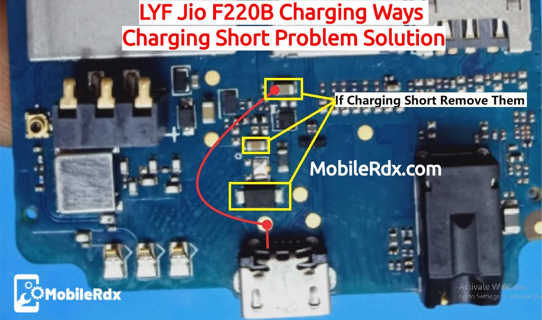 LYF Jio F220B Charging Ways Charging Short Problem Solution