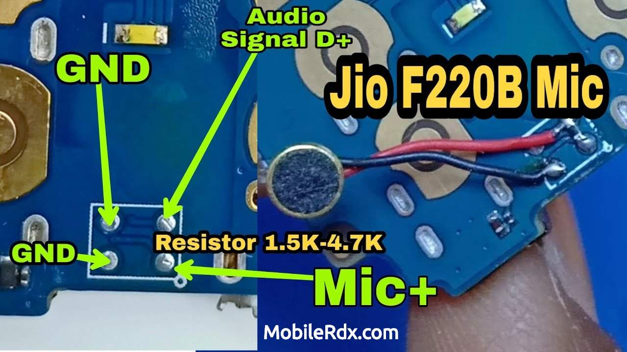 LYF Jio F220B Mic Ways Solution How To Install China Mic On Jio F220B