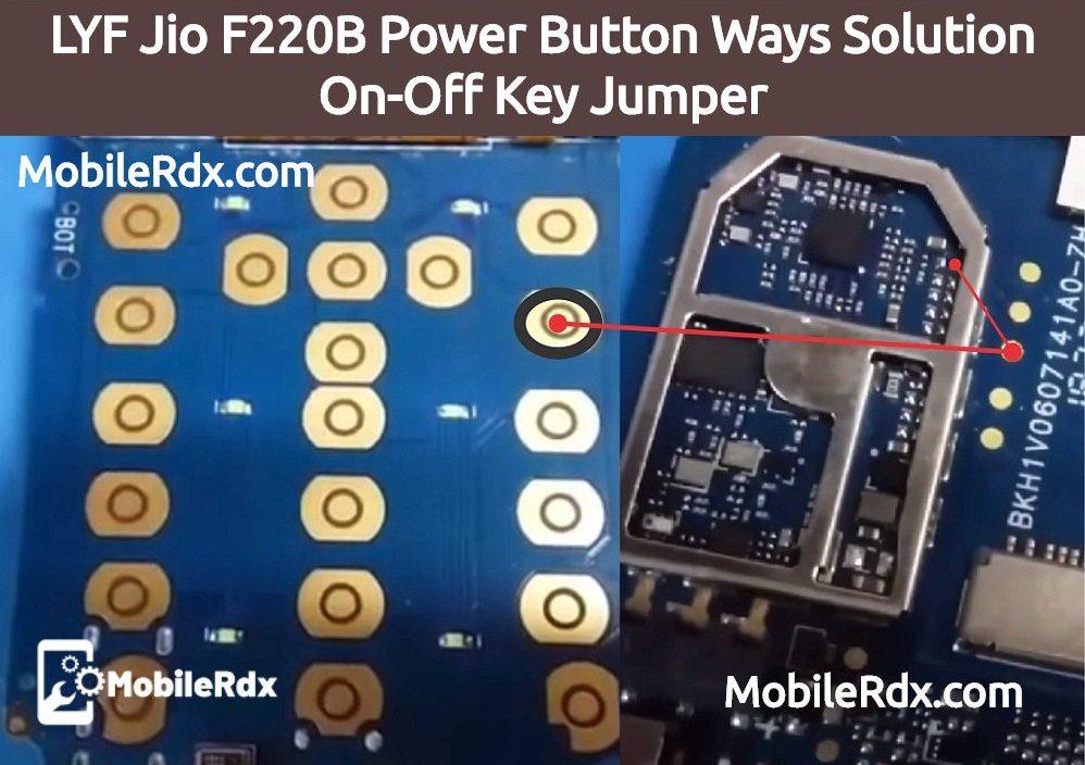 LYF Jio F220B Power Button Ways Solution On Off Key Problem