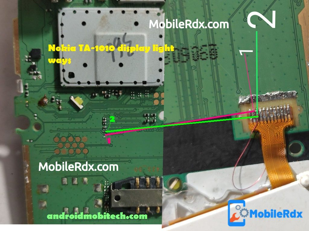 Nokia 105 TA 1010 Display Light Ways Backlight Jumper Solution