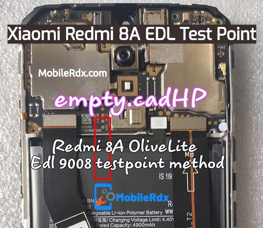 Redmi 8A EDL Test Point Boot Redmi 8A Into EDL 9008 Mode