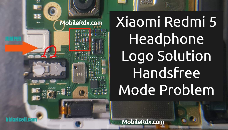 Xiaomi Redmi 5 Headphone Logo Problem