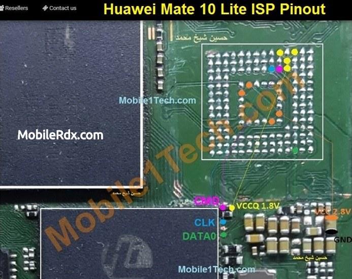 Huawei Mate 10 Lite ISP Pinout EMMC Pinout Dead Boot Repair