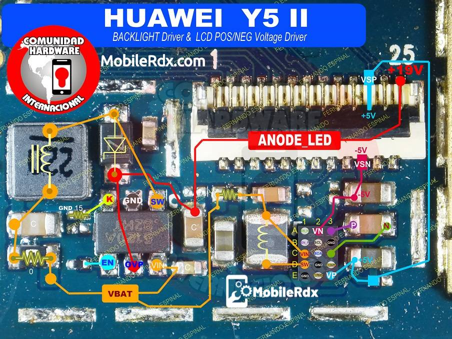 Huawei Y5 II Backlight Ways Display Light Problem Solution