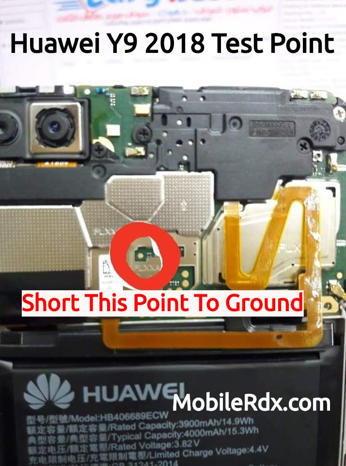 Huawei Y9 2018 Test Point For Remove Pattern FRP And Flashing