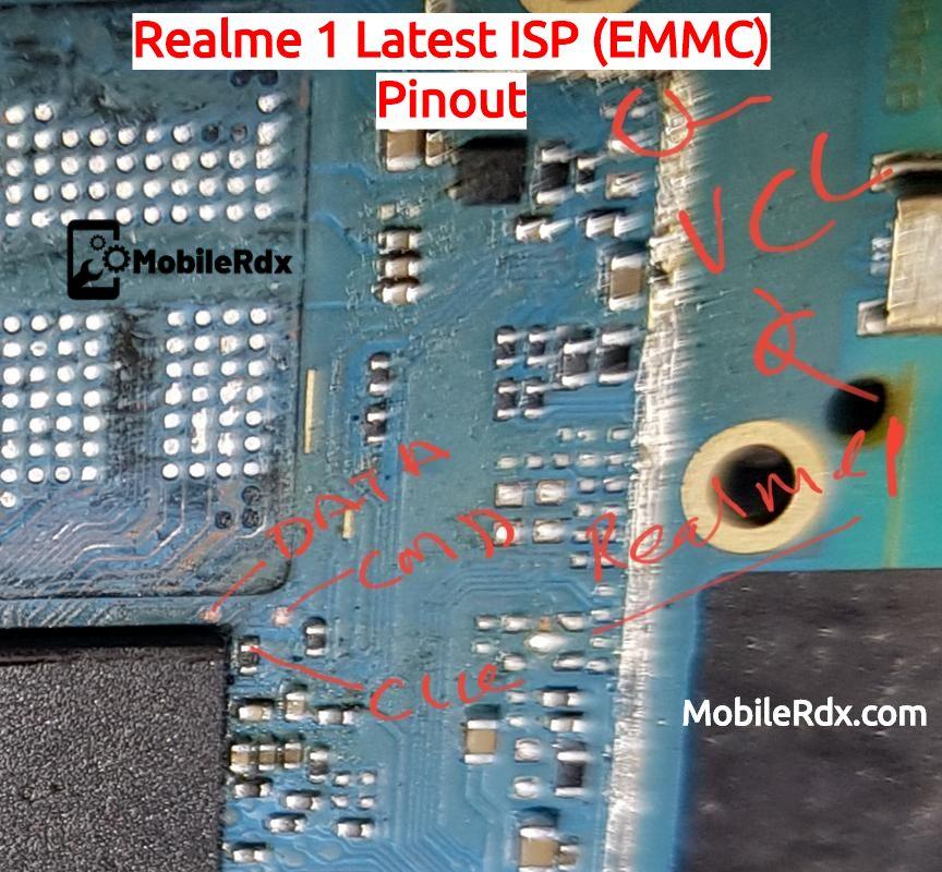 Realme 1 ISP EMMC Pinout