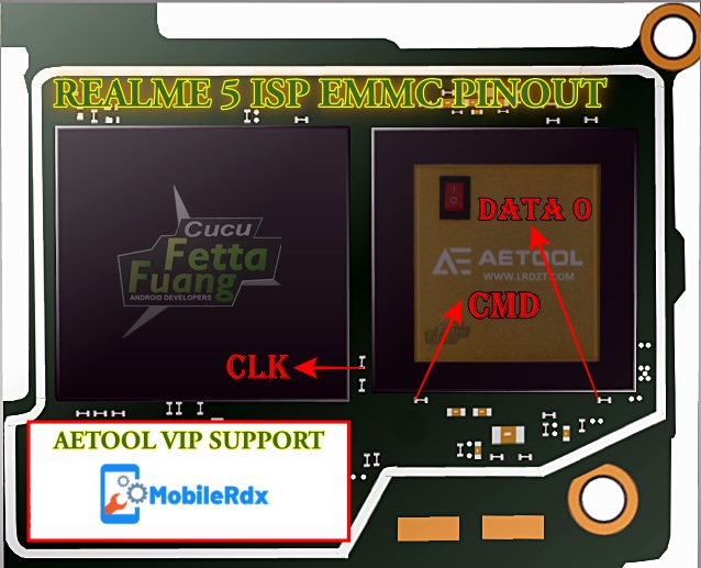 Realme 5 ISP EMMC Pinout