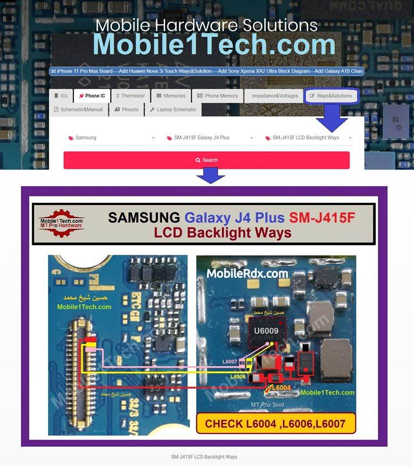 Samsung Galaxy J4 Plus J415F Display Light Problem LCD Backlight Ways