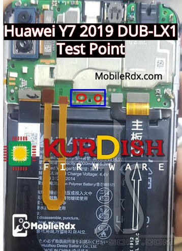 Huawei Y7 2019 DUB LX1 Test Point EDL Mode Pinout 2