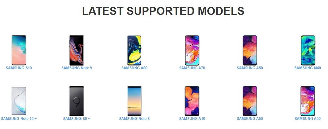 Miracle Samsung Tool Latest Supported Models