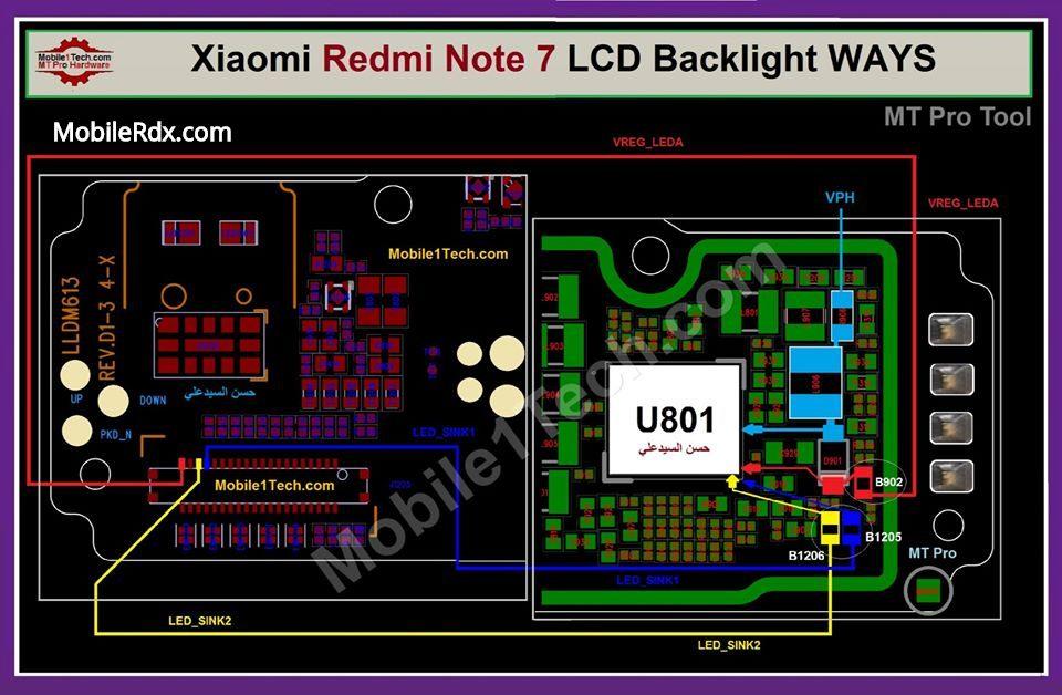 Redmi Note 7 Backlight Ways LCD Light Jumper Solution