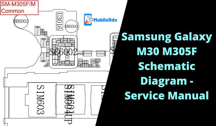 Samsung Galaxy M30 M305F Schematic Diagram Service Manual