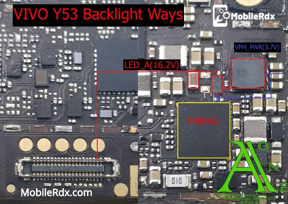 Vivo Y53 Backlight Ways LCD Light Problem Jumper Solution
