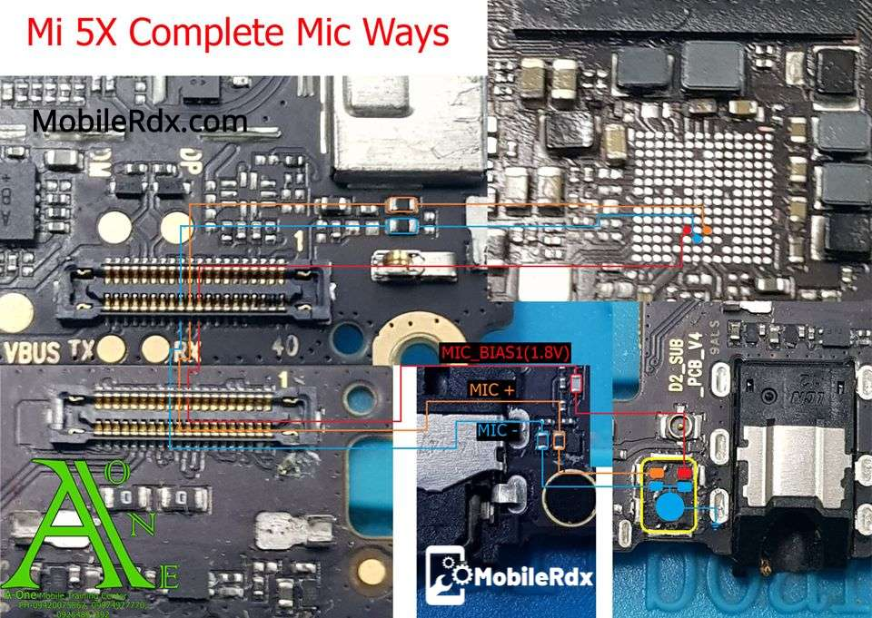 Xiaomi Mi 5X Mic Problem Jumper Solution Mic Ways
