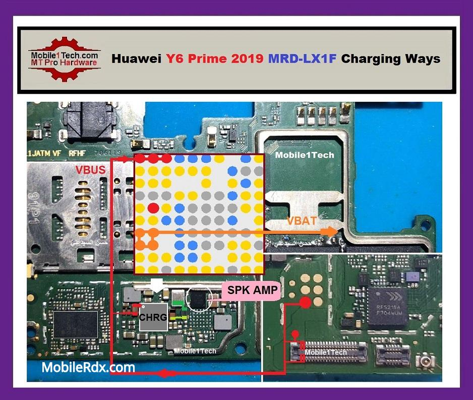 Huawei Y6 Prime 2019 MRD LX1F USB Charging Solution