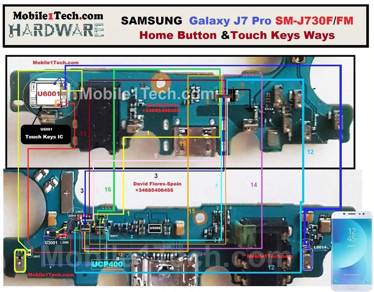 Samsung Galaxy J7 Pro J730F Home And Touch Key Ways Solution