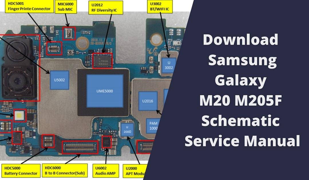 Download Samsung Galaxy M20 M205F Schematic Service Manual