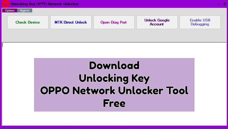 Download Unlocking Key OPPO Network Unlocker Tool Free