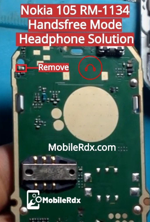 Nokia 105 RM 1134 Handsfree Mode Solution Headphone Problem