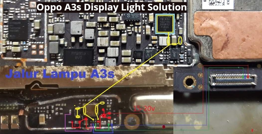 Oppo A3s Display Light Solution Backlight Ways