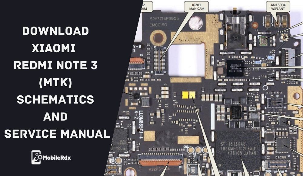 Download Xiaomi Redmi Note 3 MTK Schematics And Service Manual