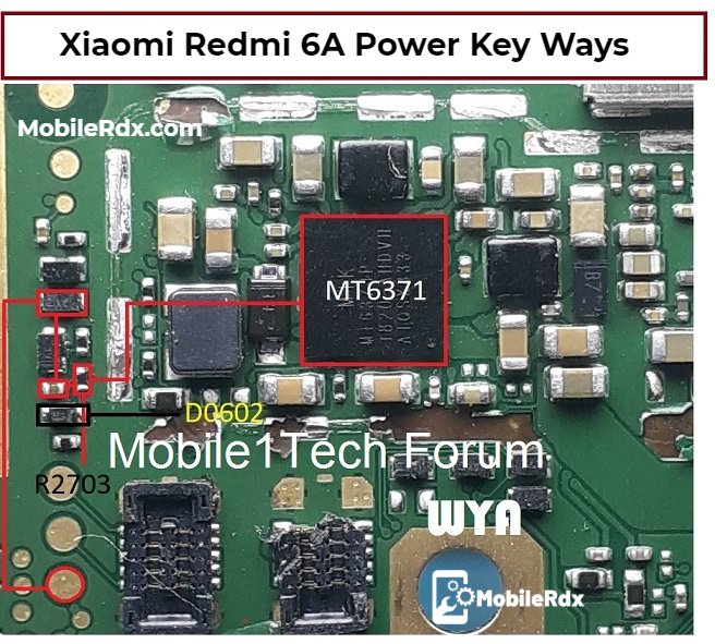 Redmi 6A Power Key Ways Power Button Jumper Solution
