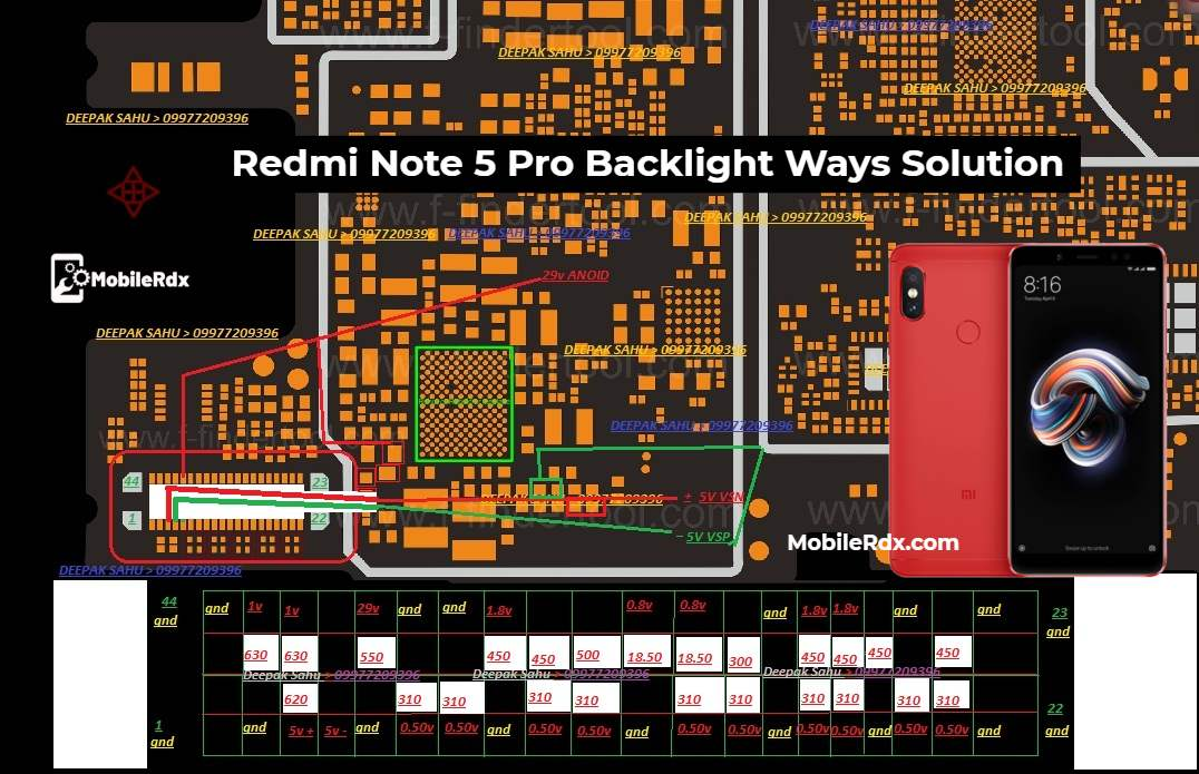 Redmi Note 5 Pro Backlight Ways Display Light Solution