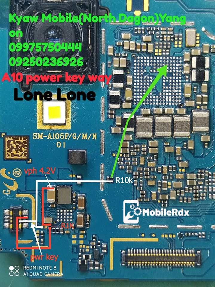 Samsung Galaxy A10 A105F Power Key Ways