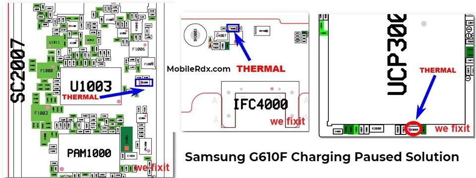 Samsung J7 Prime G610F Charging Paused Battery Temperature Solution