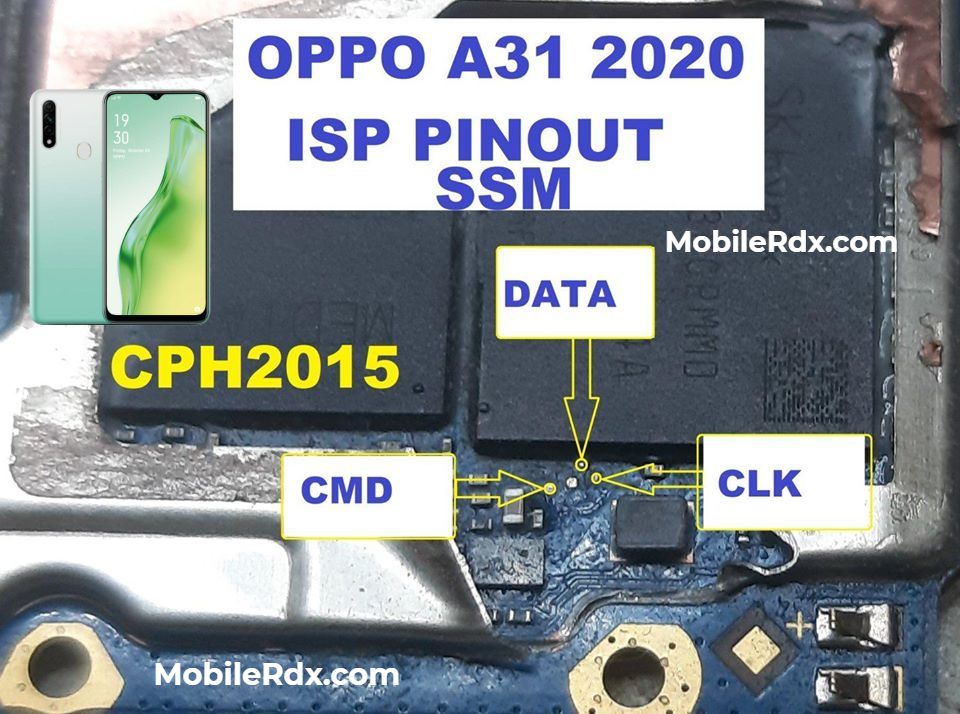 Oppo A31 ISP Pinout EMMC Ways