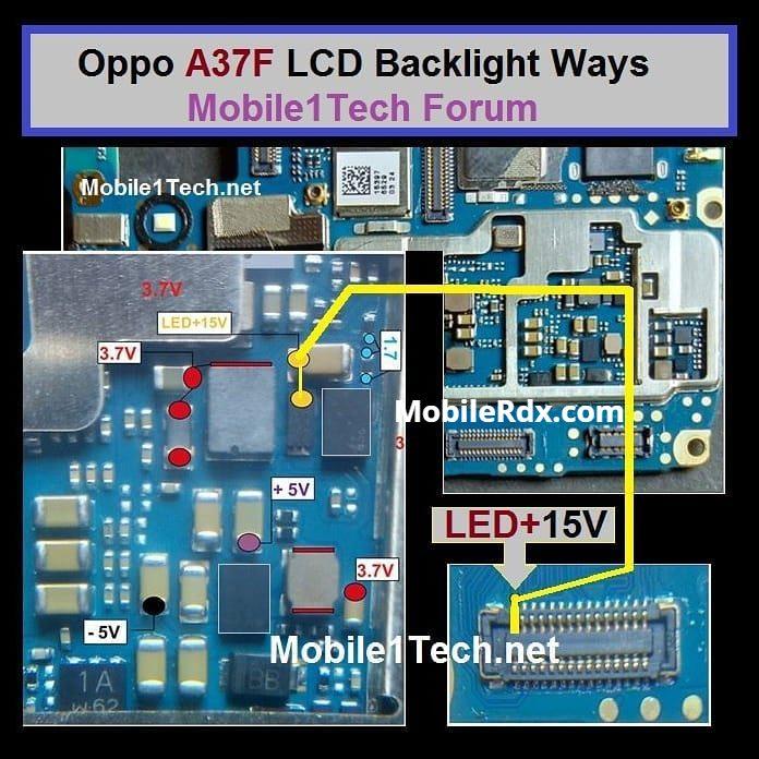 Oppo A37 Backlight Ways Display Light Jumper Solution