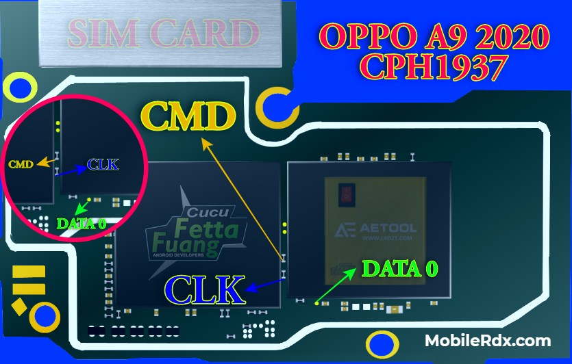 Oppo A9 2020 CPH1937 ISP Pinout