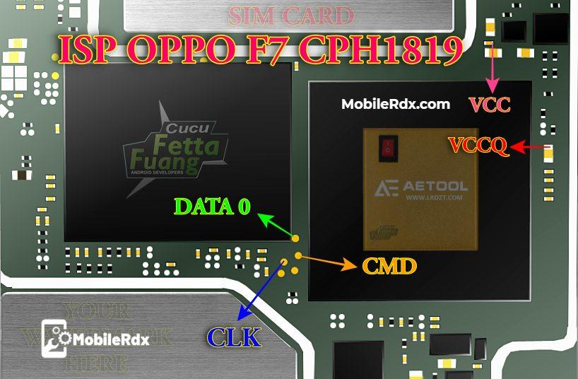 Oppo F7 CPH1819 ISP Pinout