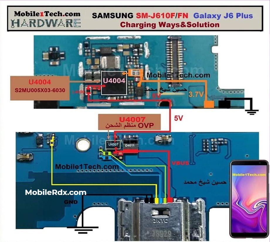 Samsung Galaxy J6 Plus J610F Charging Ways USB Jumper Solution