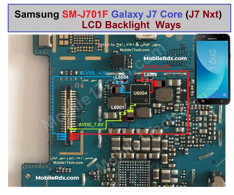 Samsung Galaxy J7 Nxt J701F Display Light Ways Backlight Solution