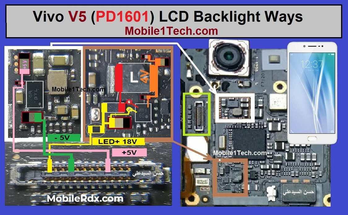 Vivo V5 LCD Backlight Ways Display Light Problem Solution