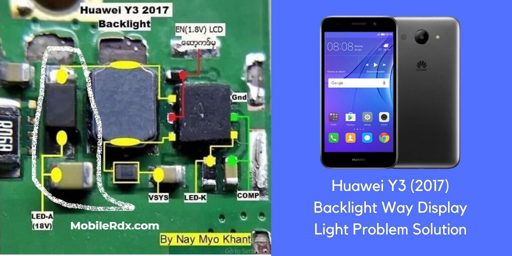 Huawei Y3 2017 Backlight Way Display Light Problem Solution