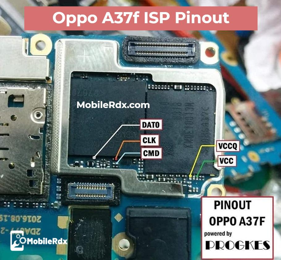 Oppo A37f ISP Pinout