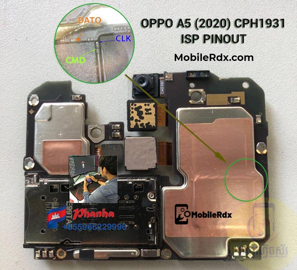 Oppo A5 2020 CPH1931 ISP Pinout
