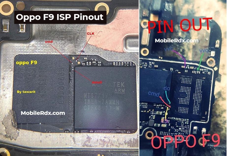 Oppo F9 ISP Pinout EMMC Ways