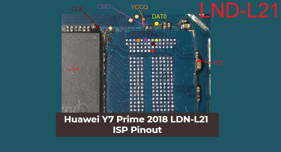Huawei Y7 Prime 2018 LDN L21 ISP Pinout Ways