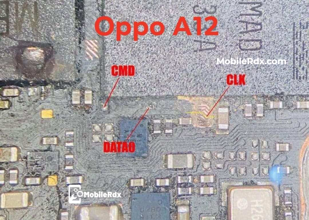 Oppo A12 Latest ISP Pinout EMMC Ways