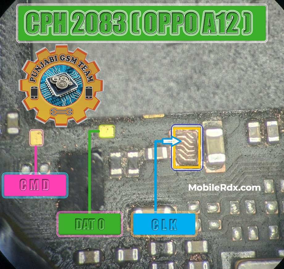 Oppo A12 New ISP Pinout to ByPass FRP and Pattern Lock