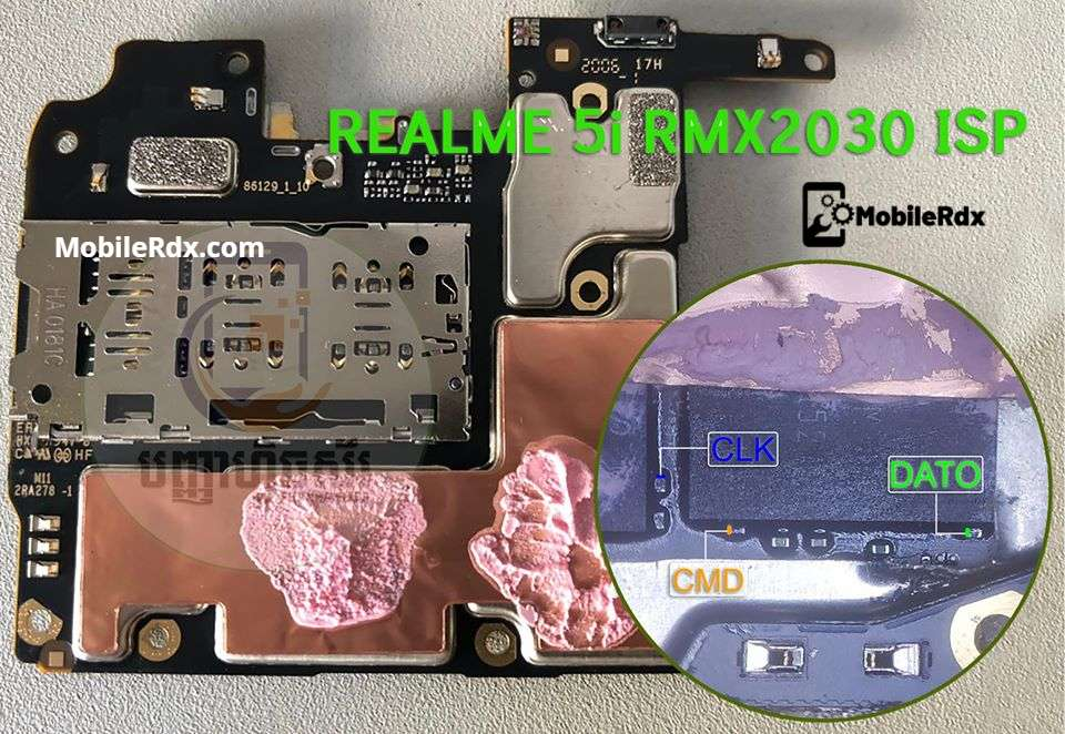 Realme 5i RMX2030 ISP Pinout