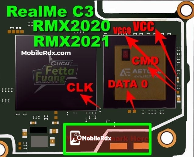 Realme C3 Latest ISP Pinout To ByPass FRP And Pattern Lock