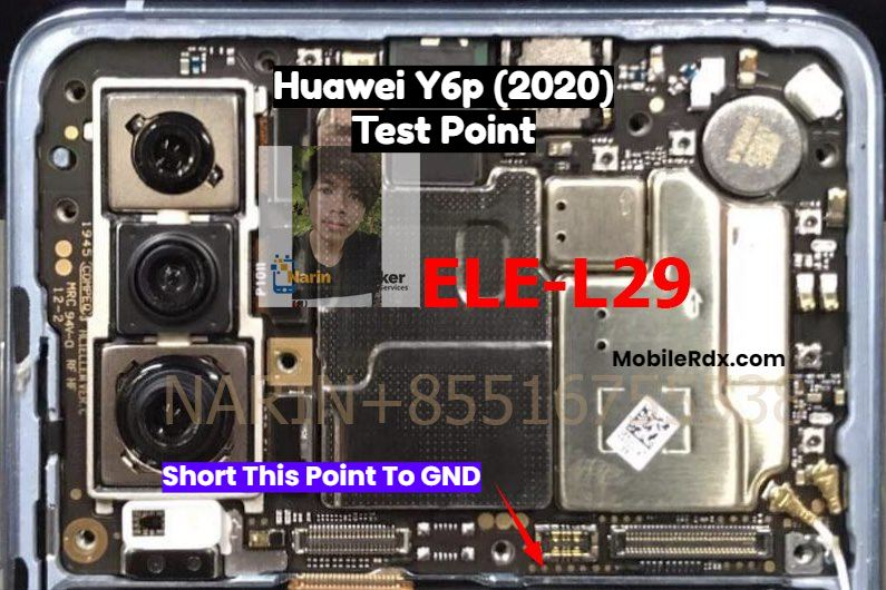Huawei Y6p Test Point For Remove User Lock FRP And Flashing