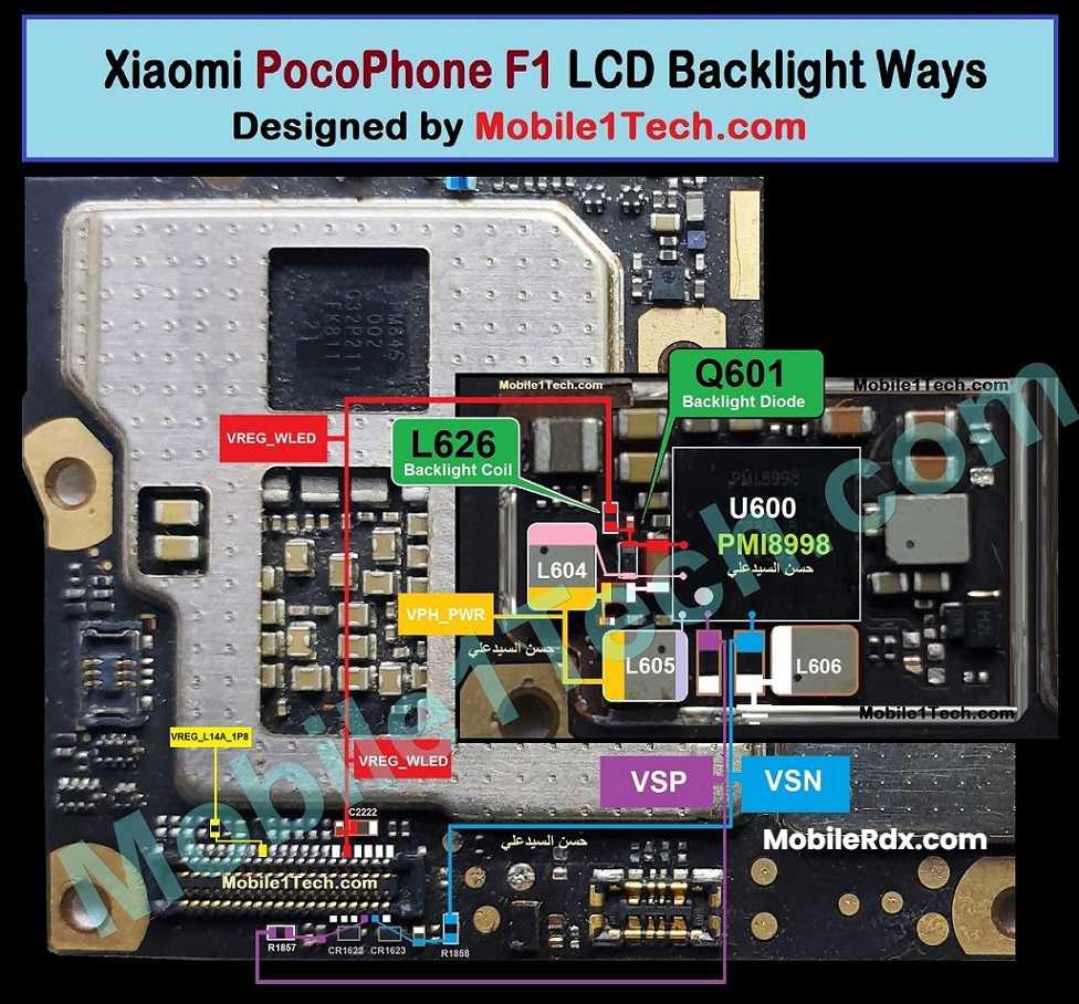 Pocophone F1 Display Light Ways Backlight Problem Repair Solution