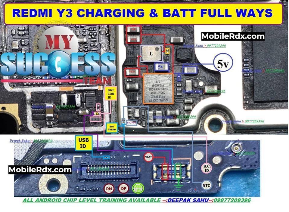Redmi Y3 Charging Ways Solution Repair Not Charging Problem