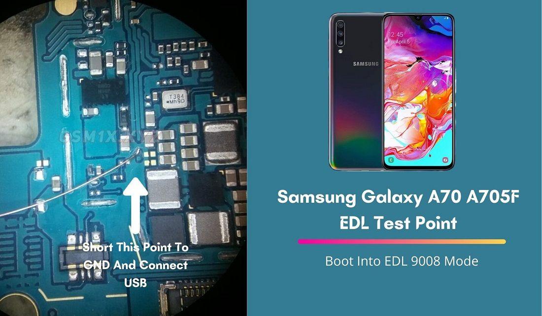 Samsung Galaxy A70 A705F EDL Test Point