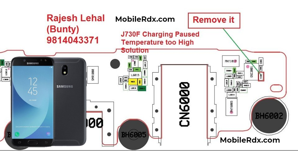 Samsung J7 Pro J730F Charging Paused Problem Solution Temperature To High